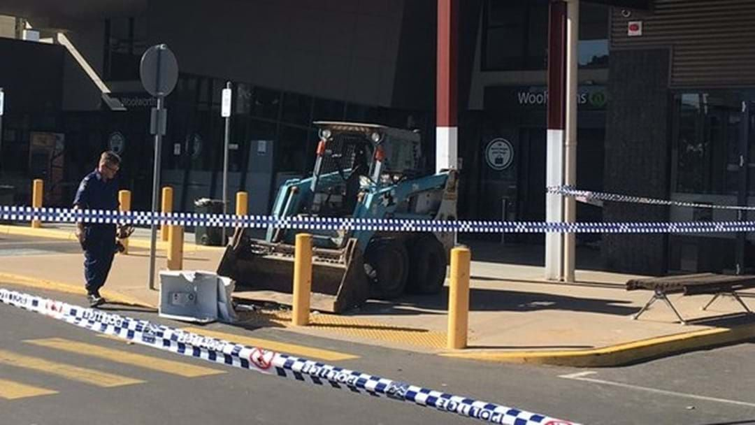 Article heading image for Bobcat used to steal ATM in Moama