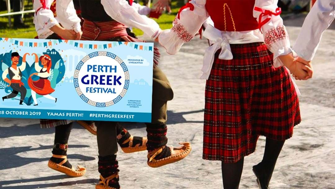 Article heading image for There's A Massive Greek Festival Happening In Perth This Month