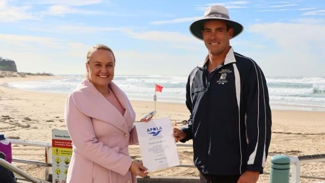 Article heading image for Newcastle Lifeguard Recognised for 20 Years of Service