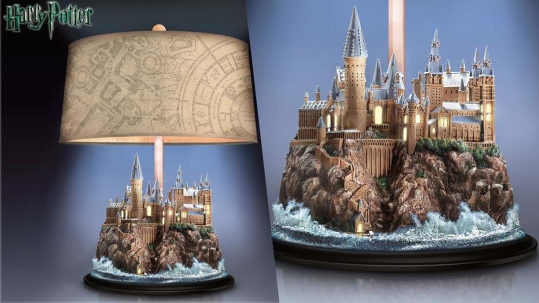 Article heading image for This Harry Potter Hogwarts Castle Lamp Is All We Want For Christmas