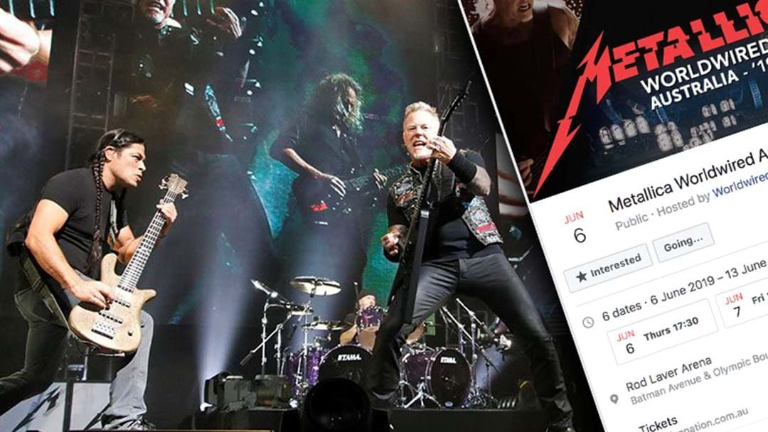 Aussies Are Getting Fooled By A Fake Metallica Tour Facebook