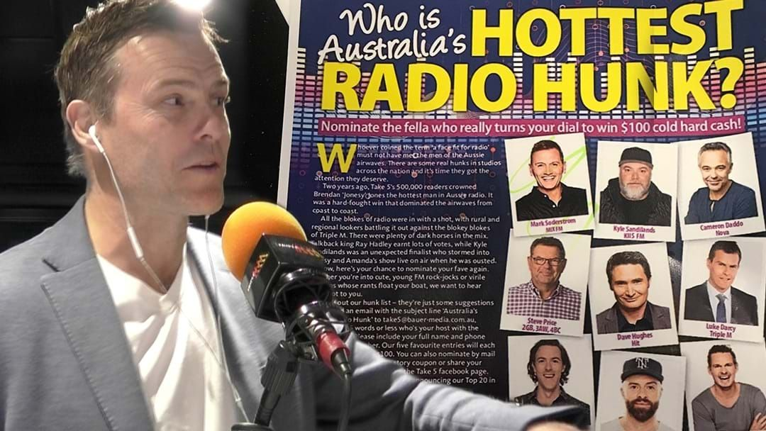 Article heading image for Darce Takes Aim At The Rest Of The Competition For Australia's Hottest Radio Hunk!