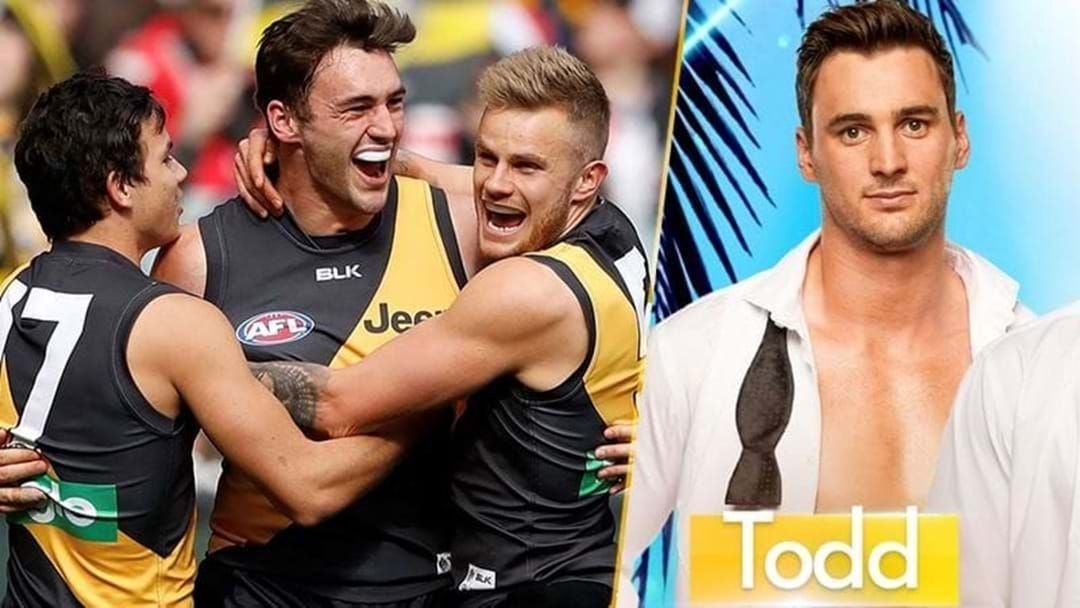 Article heading image for Love Island Is On Tiger Time: Former Richmond Player Todd Elton Is Heading To The Villa