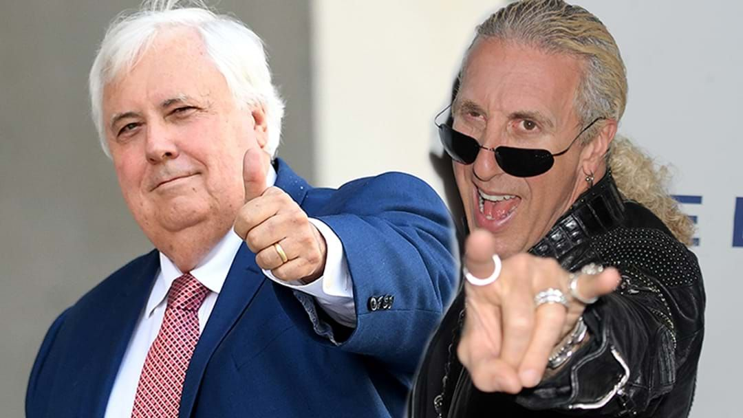Article heading image for Twisted Sister's Dee Snider Absolutely Slams Clive Palmer For Ripping Off His Song