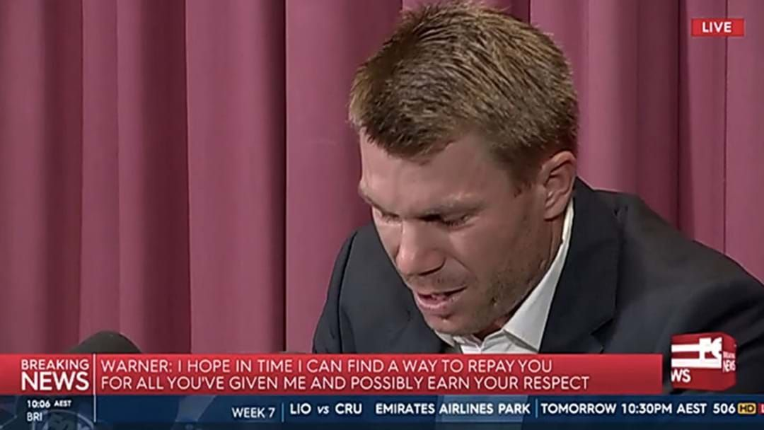 David Warner Has Conceded He May Never Play Cricket For