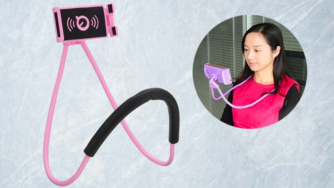 Article heading image for You Absolutely Need One Of These Neck Mount Phone Holders