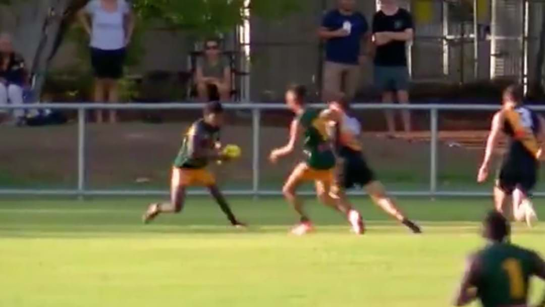 Article heading image for Maurice Rioli Jnr Kicks An Absolute Stunner In The NTFL
