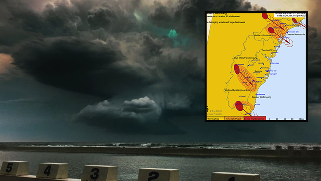 Article heading image for Damaging Storm With Large Hail Stones Are Likely In Newcastle This Afternoon