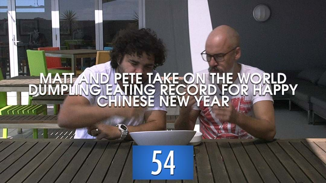 Article heading image for Matt And Pete Eating As Many Dumplings In A Minute As Possible