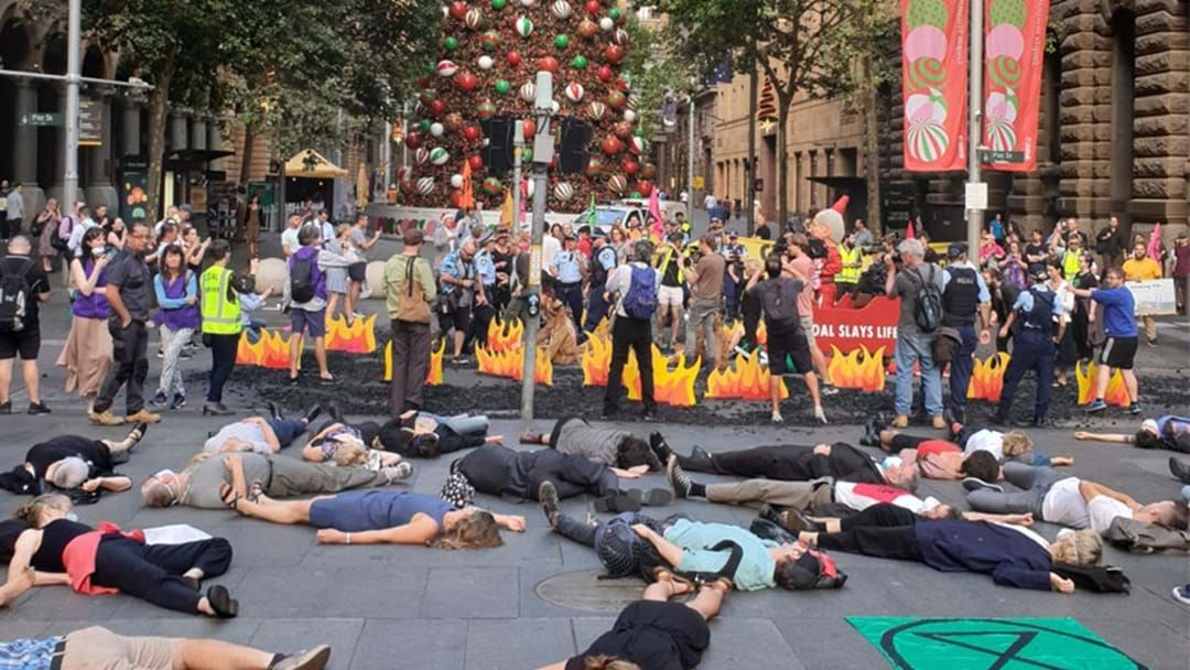 Article heading image for Protesters Have Shut Down Traffic At Martin Place Amidst Bushfire Crisis