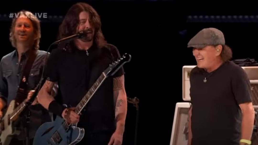 Article heading image for Watch Foo Fighters Take On An AC/DC Classic With Brian Johnson In The Lead