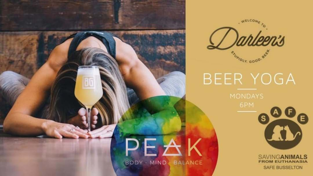 Article heading image for Beer Yoga