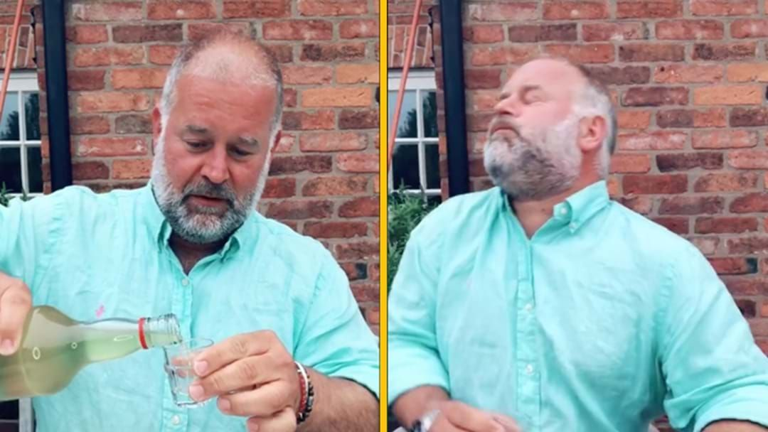 Article heading image for This Bloke's Reaction To Tasting His Own Homemade Grog Gets Funnier Every Time You Watch It