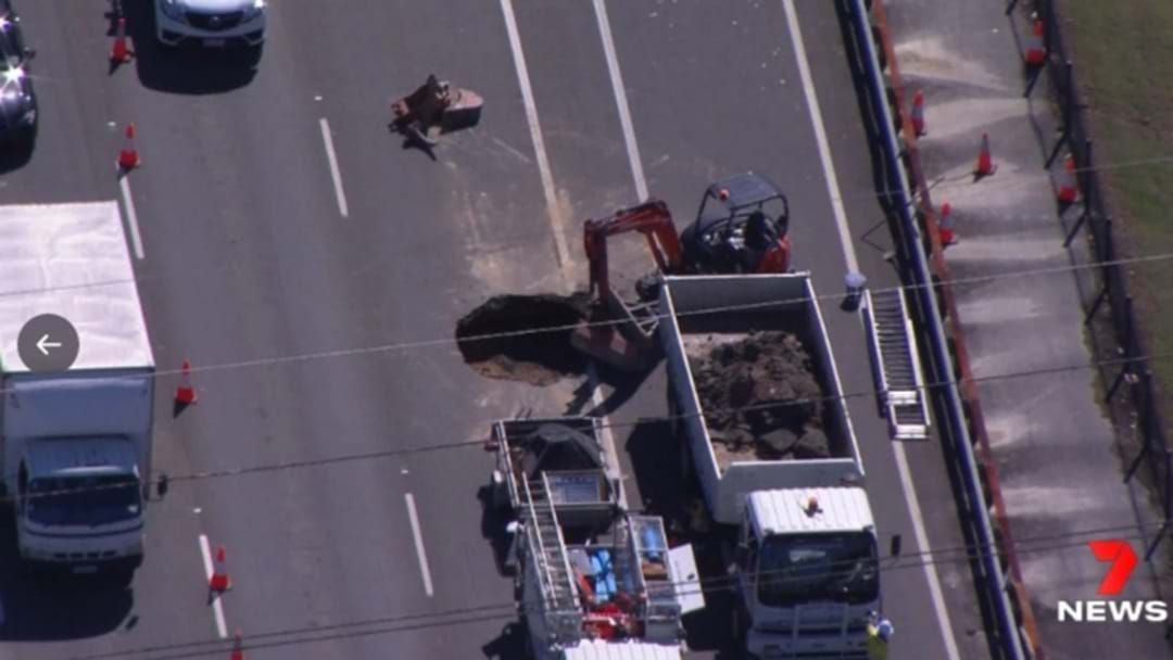 Article heading image for Gold Coast Traffic Disrupted As Sinkhole Opens Up