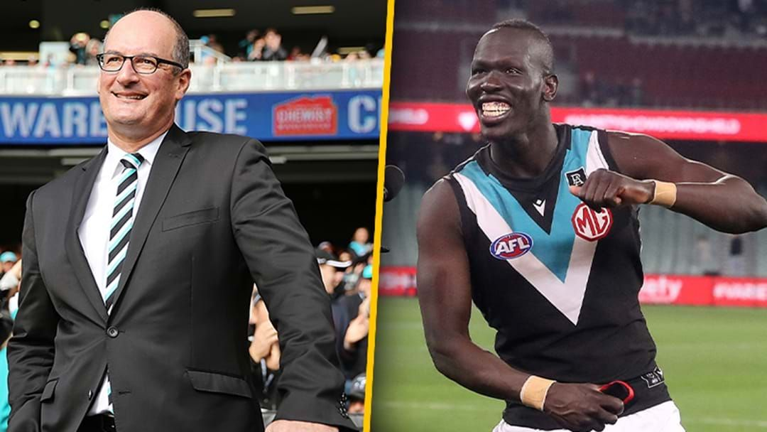 Article heading image for David Koch Gives Some Insight Into How Port Adelaide Snared Aliir Aliir From Sydney