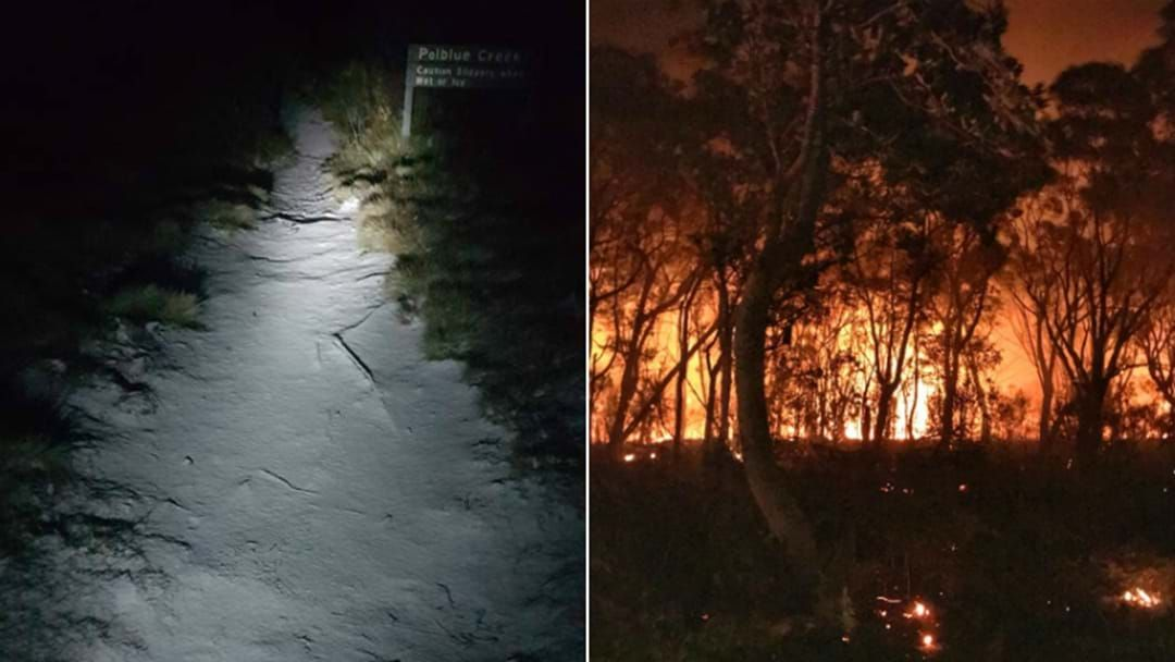 Article heading image for Hunter Gets Snow, Bushfire In The Same Night!