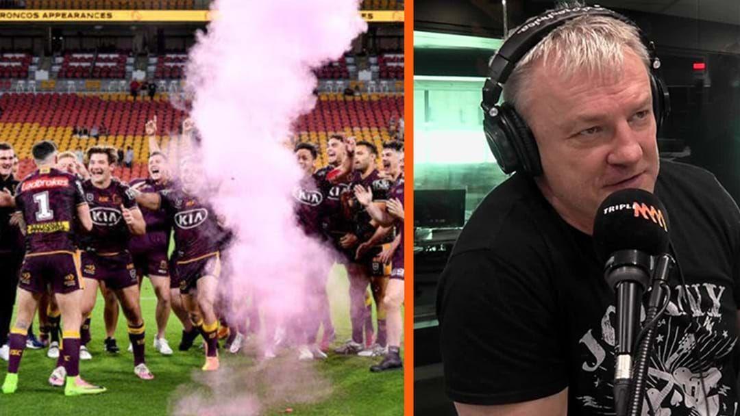 Article heading image for Paul Kent Unloads On The Brisbane Broncos Following Gender Reveal Debacle