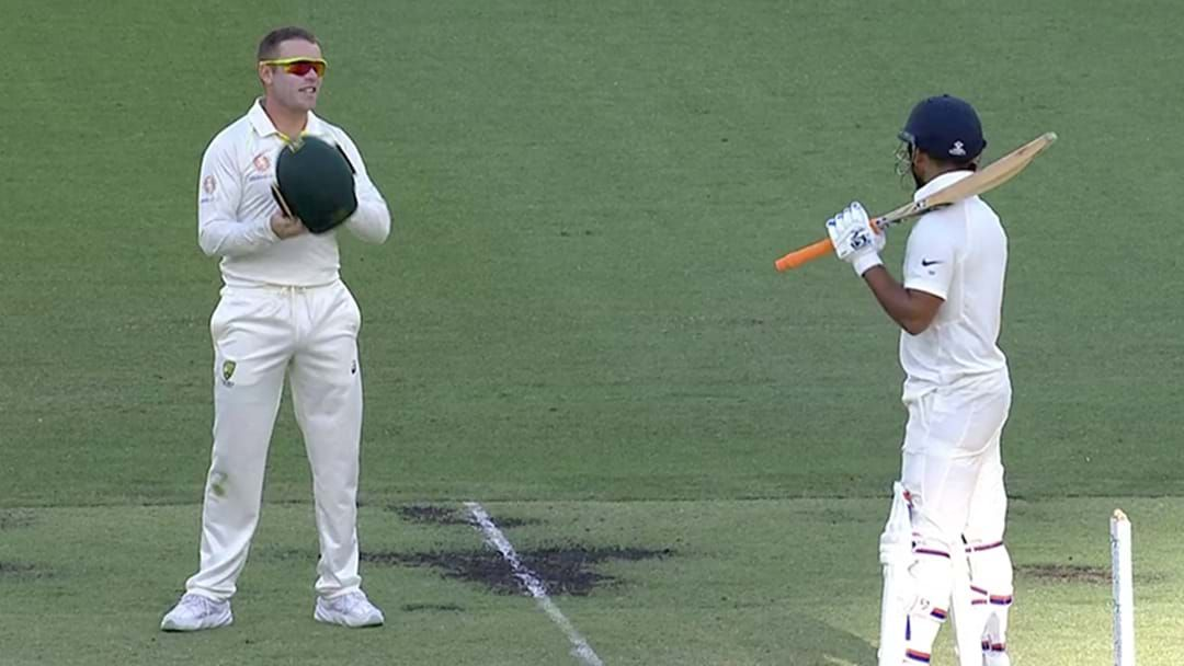 Article heading image for LISTEN | Marcus Harris's Cheeky Sledge For Rishabh Pant