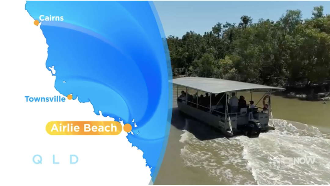 """Article heading image for Croc Tours In Prossy River Shown On """"Getaway"""" On Channel Nine"""