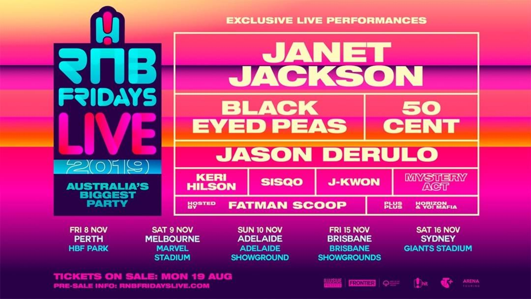 Article heading image for Here's The RNB Fridays Live Line Up For 2019