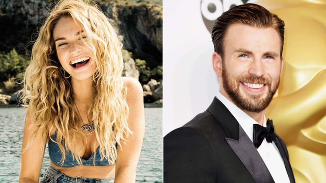 Article heading image for Hot Couple Alert: It Looks Like Lily James & Chris Evans Are Dating!