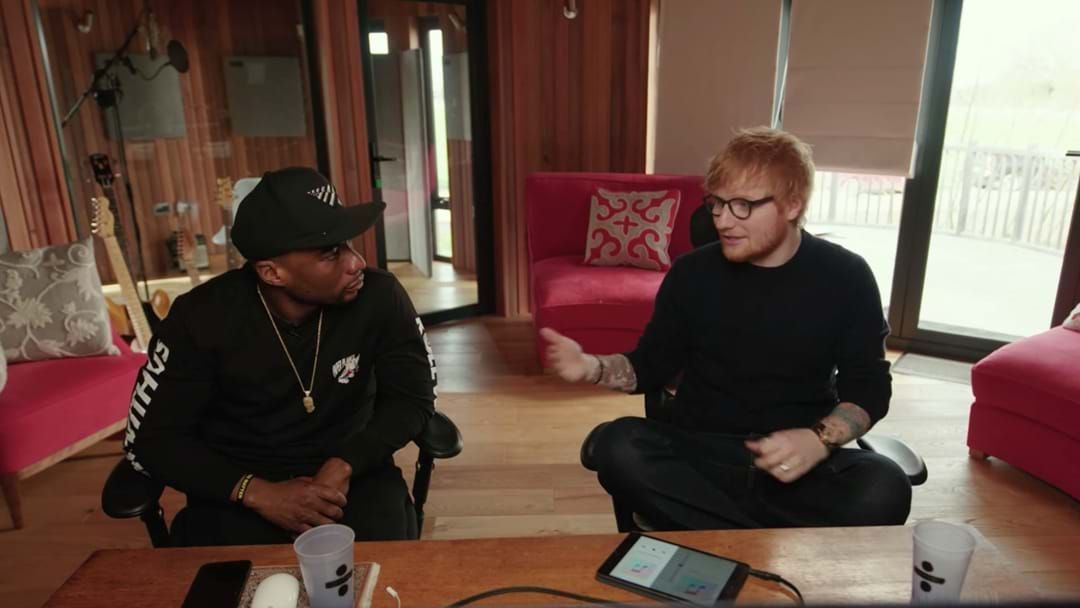 Article heading image for Ed Sheeran Reveals The EERIE Story About How He Came To Record With Eminem And 50 Cent