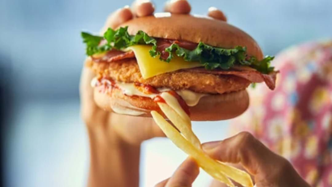 Article heading image for Macca's Is Testing A Freakin' Chicken Parma Burger & Chicken Salt Fries Combo