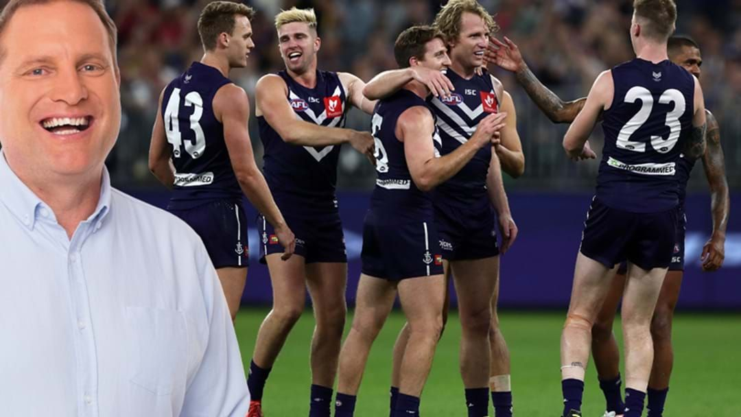 Article heading image for Barra's Cheeky Jab At Freo Just To Give Pete, Fremantle Fan, The Whoops