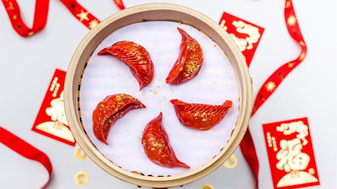 Article heading image for Red Dumplings Covered In Gold Have Arrived In Sydney This Lunar New Year!
