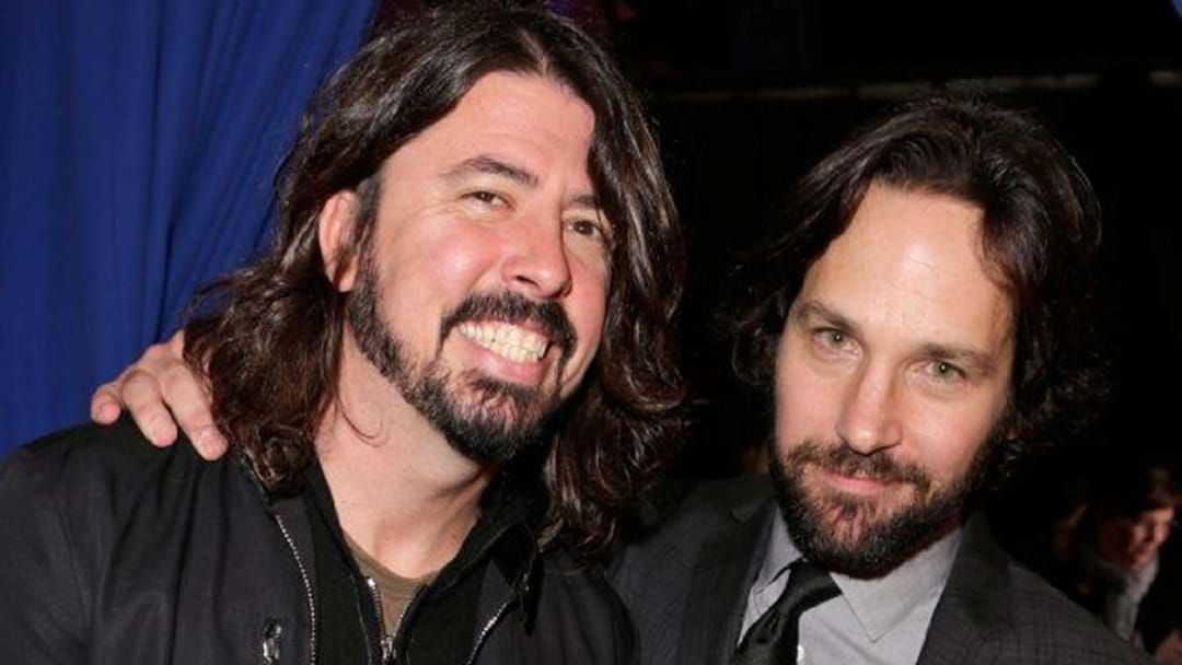 Article heading image for As If He Isn't Cool Enough Already, Here's Footage Of Paul Rudd Rocking Out To The Foo Fighters
