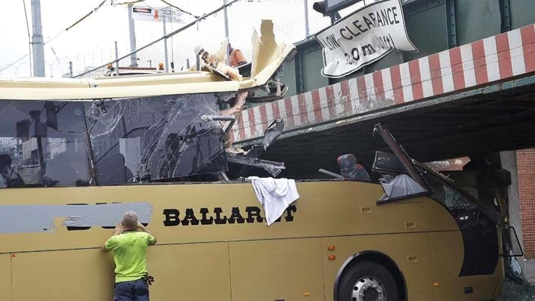 Article heading image for The Bus Driver Who Hit The Montague Street Bridge In 2016 Has Been Jailed