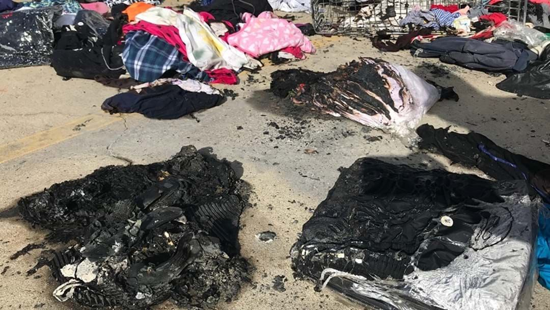 Article heading image for Kilos Of Clothes Destroyed In Ross River LifeLine Fire