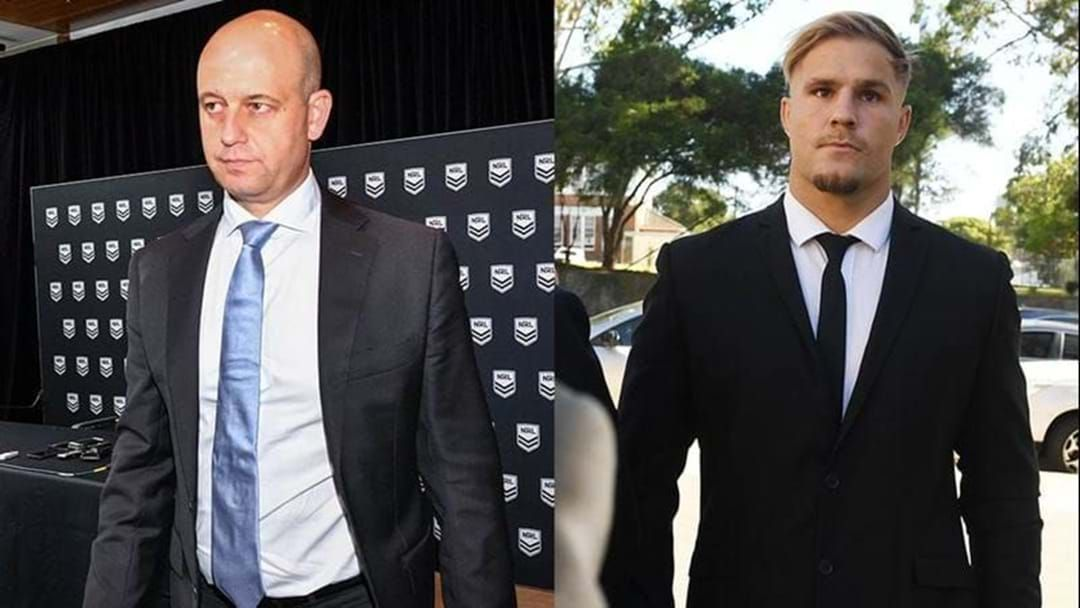 Article heading image for OFFICIAL: Jack de Belin Has Been Stood Down By The NRL