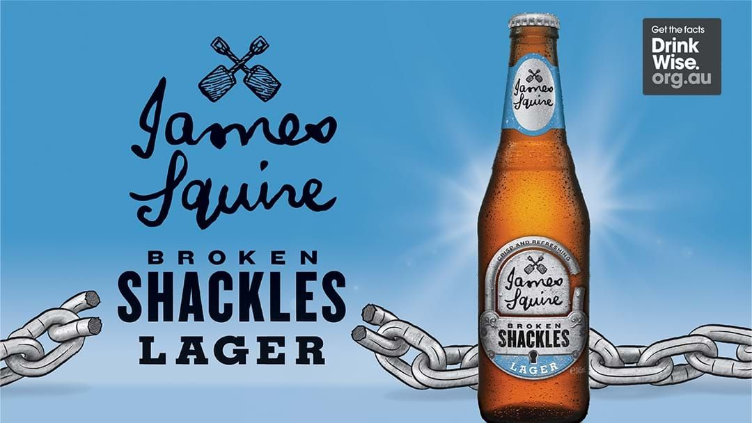 Competition heading image for Celebrate with James Squire Broken Shackles