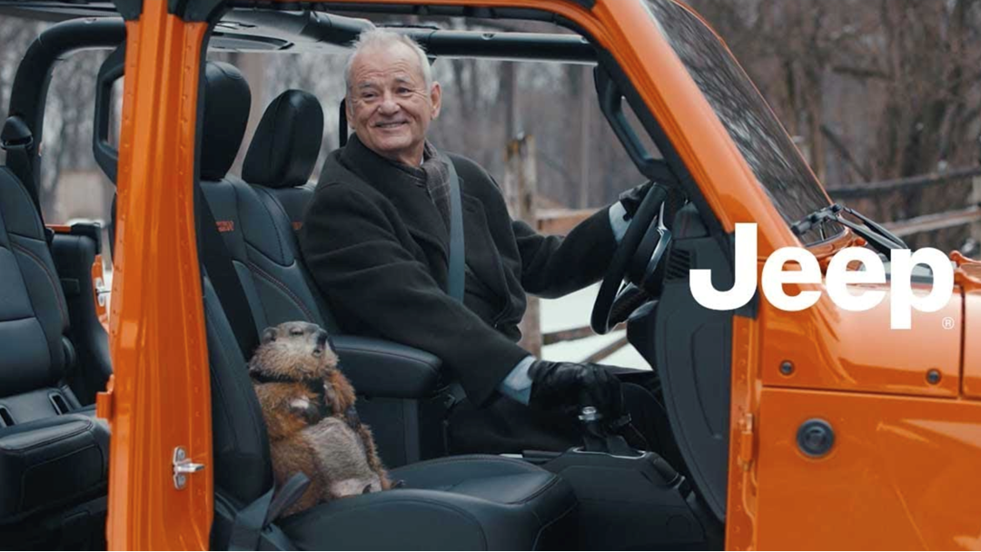 "Article heading image for Bill Murray & Punxsutawney Phil Are Back In Jeep's ""Groundhog Day""-Inspired Super Bowl Ad"