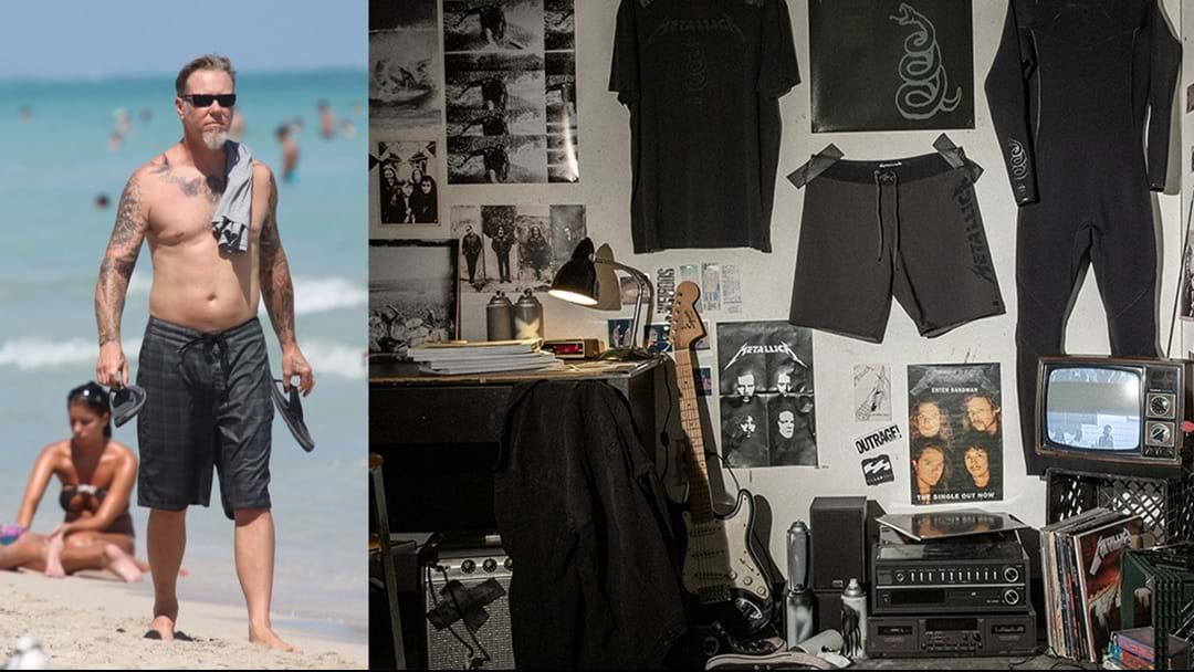 Article heading image for Metallica Have Just Released A Clothing Line With Billabong