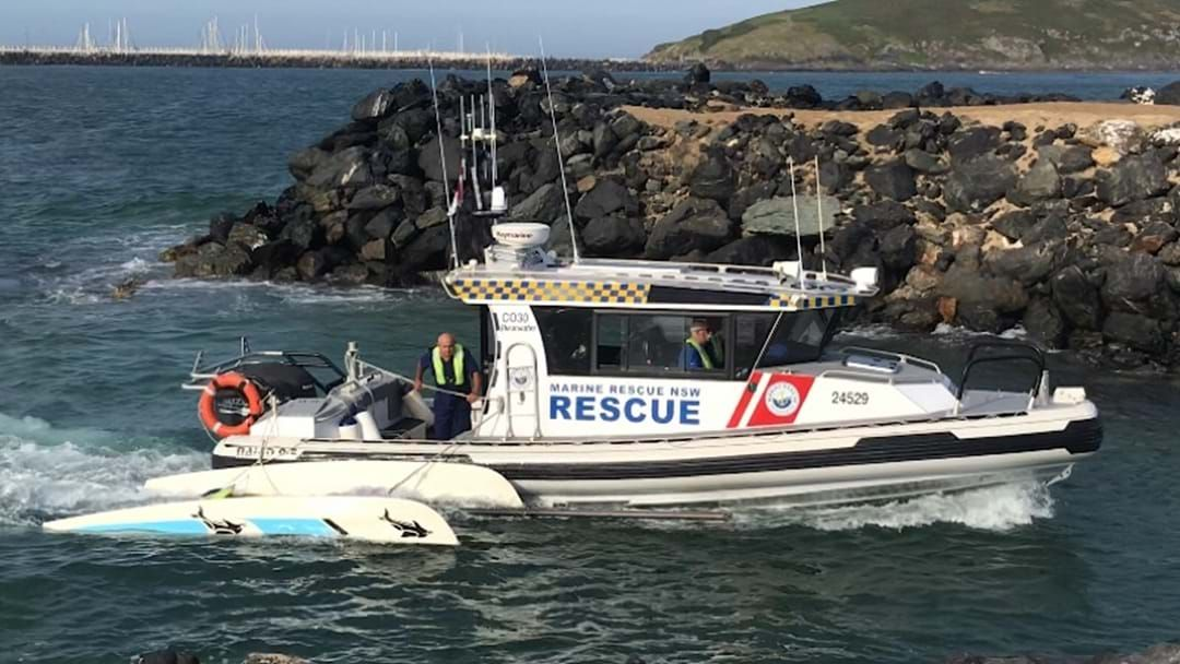 Article heading image for Two Men Rescued from Capsized Boat at Coffs Harbour