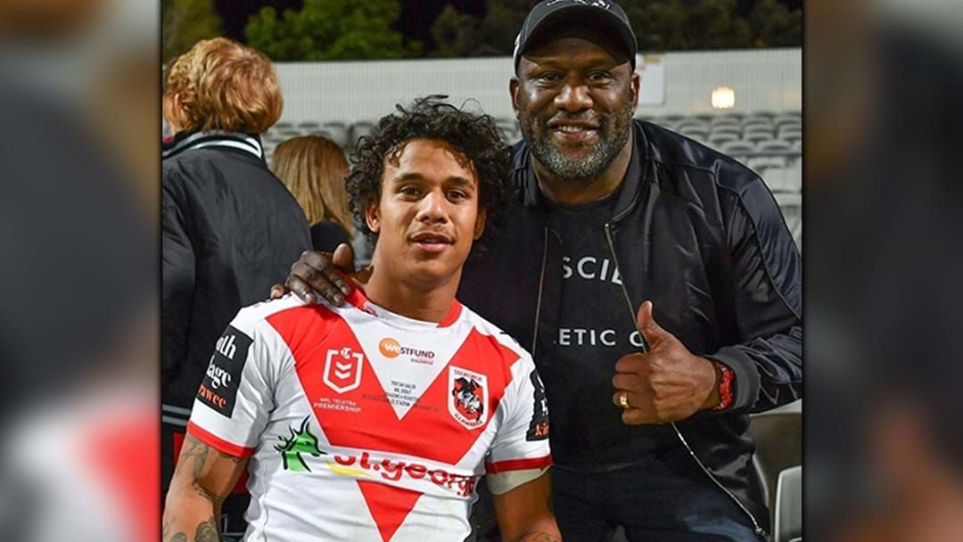 """Article heading image for """"Unbelievable"""": Dell's Emotional Reflection On Son Tristan's NRL Debut"""