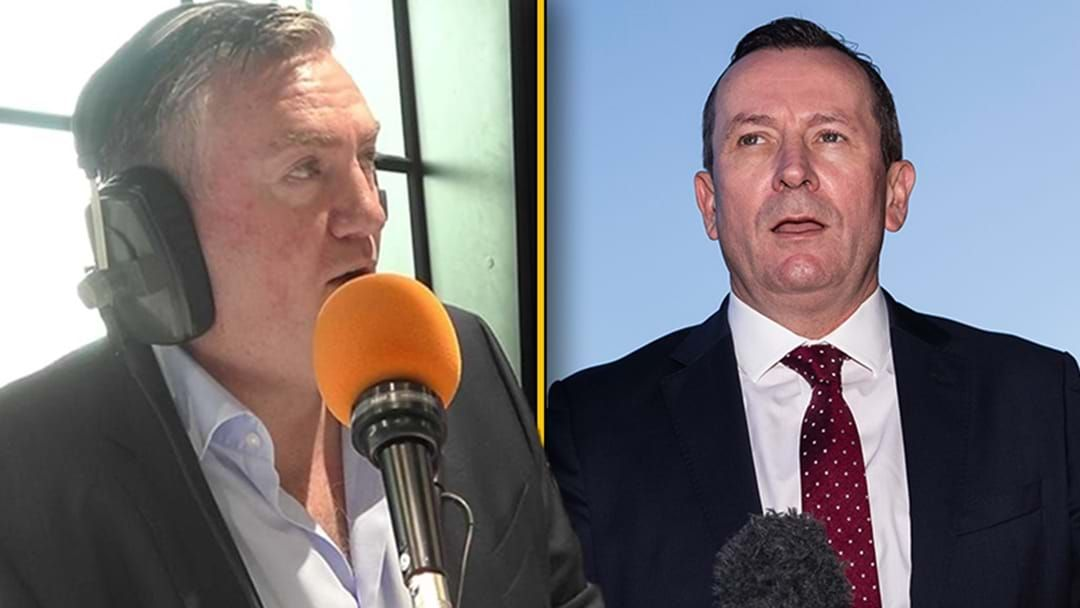 "Article heading image for Eddie McGuire Responds To WA Premier Mark McGowan's ""Cheap Shot"" At Victorian Clubs"