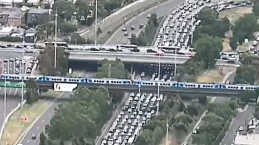Article heading image for Avoid The Eastern Freeway - Traffic Is HEAVY After A Bus Rolled