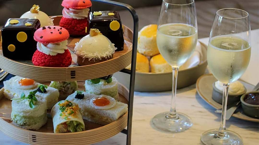 Article heading image for Sit Back & Relax, You Can Now Get This Boozy High Tea Delivered To Your Door