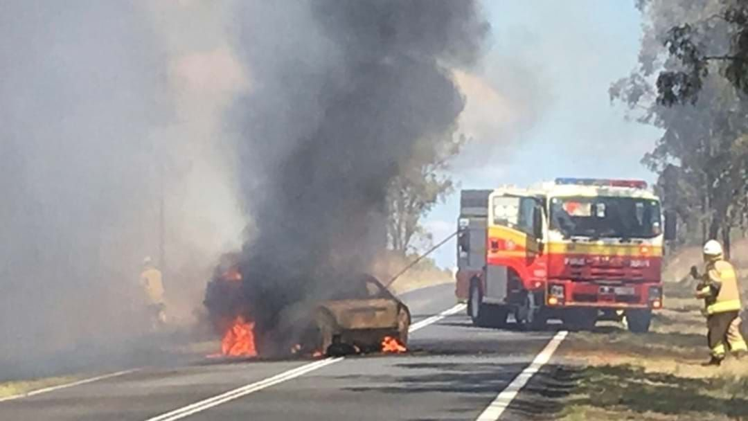 Article heading image for Lucky Escape for Occupants Before Car Catches Fire