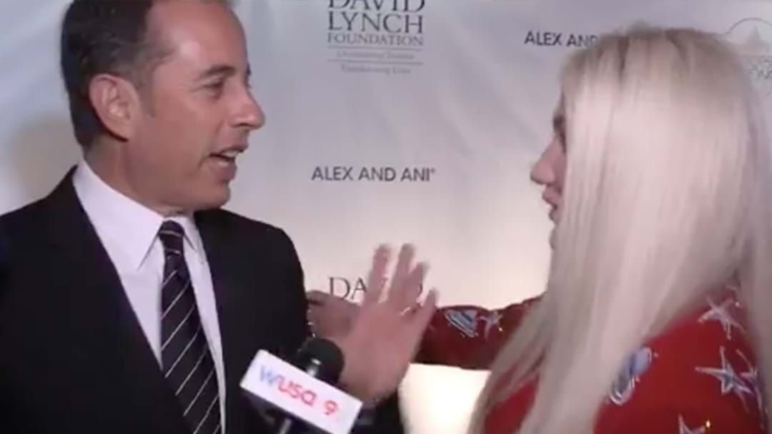 Article heading image for Jerry Seinfeld Refuses to Hug Kesha in Brilliantly Awkward Moment