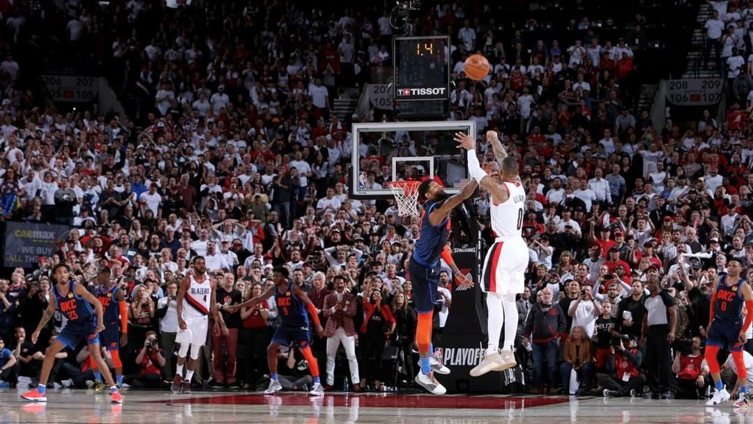 Article heading image for Damian Lillard Sunk An Incredible Buzzer-Beater To Eliminate The Thunder In The NBA Playoffs