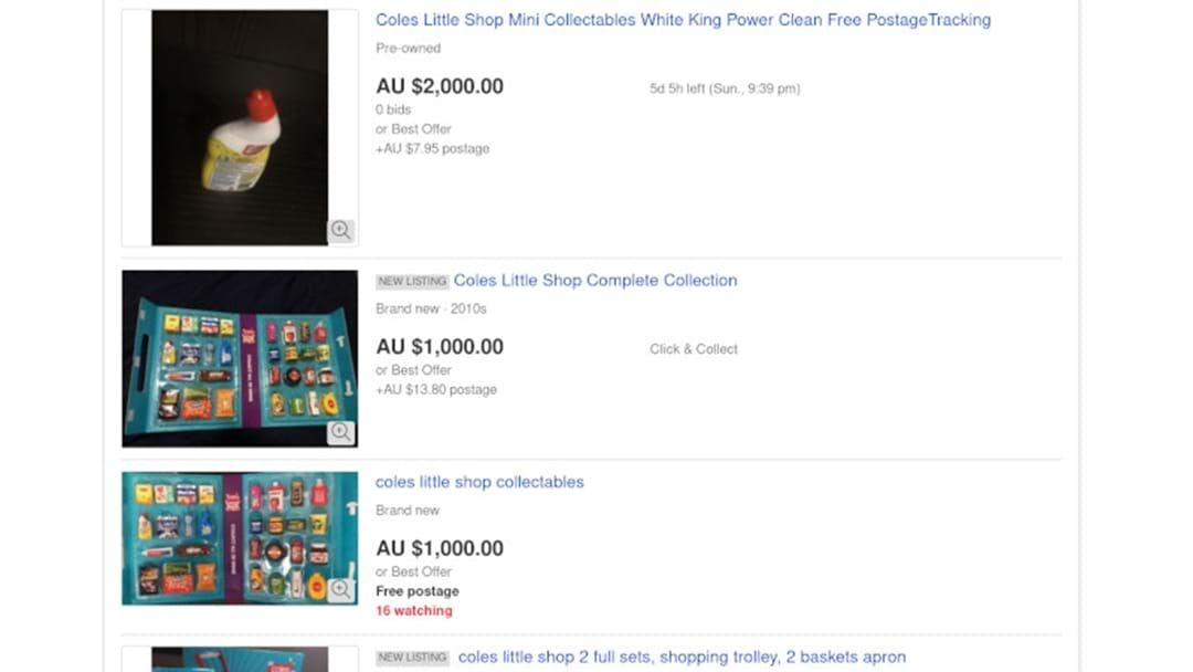Coles Little Shop Items Selling For Thousands On Ebay Hit Network