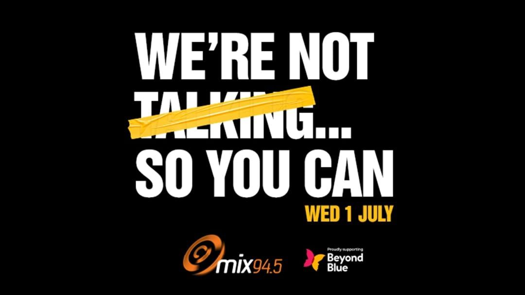 Article heading image for mix94.5's No Talk Day: How To Start The Conversation
