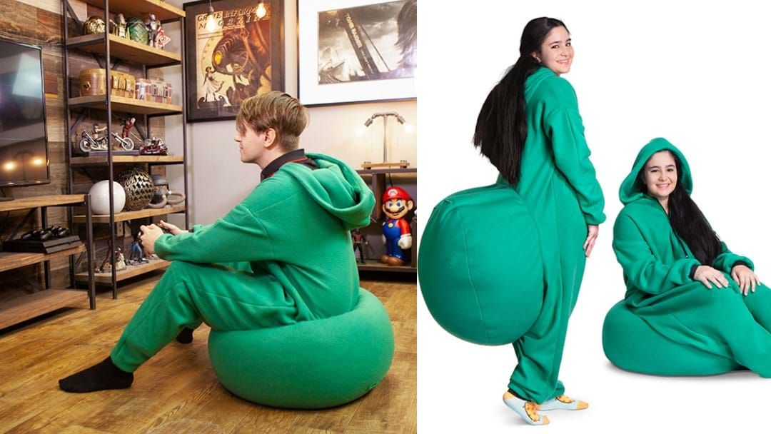 Article heading image for Get Yourself A Bean Bag Onesie So You Can Be Warm And Seated At All Times
