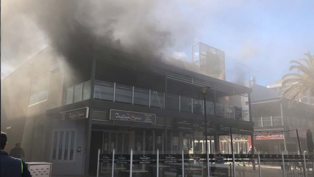 Article heading image for Smoke Blanketing The Streets After Glenelg Restaurant Fire