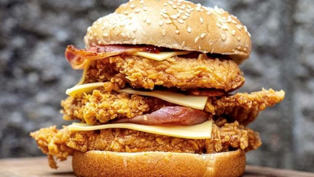 Article heading image for KFC Has Launched A Triple Stacker And Dear God, Hook It To My Veins