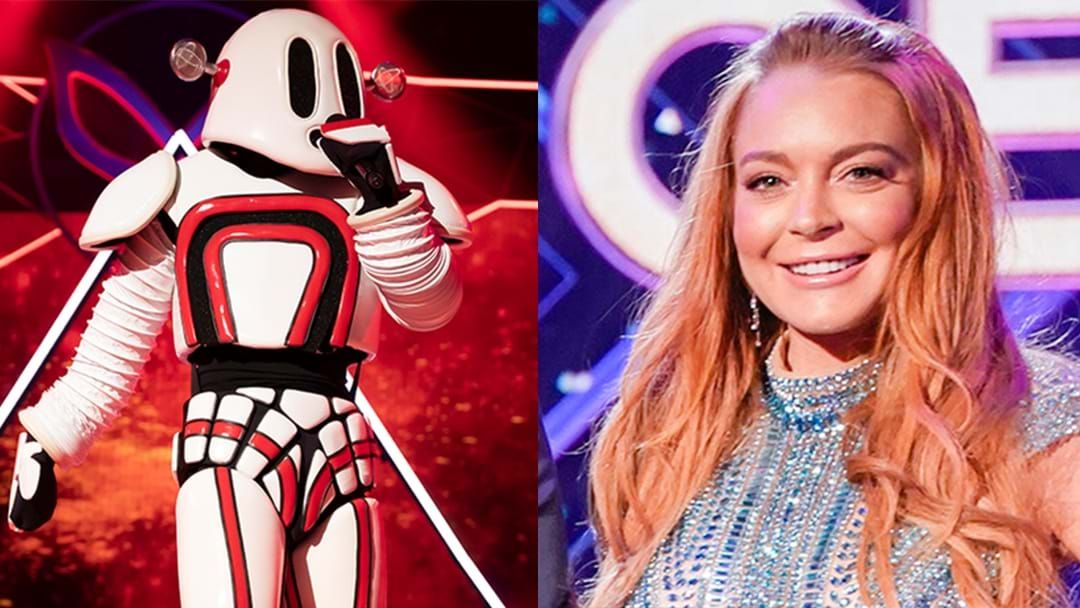 Article heading image for Lindsay Lohan May Have Been Connected To The Robot Way Before The Masked Singer